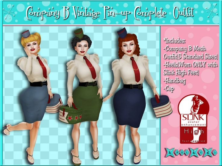 New Goodies @ ..::KnocKeRs::..!Company B Vintage Pin-up Outfit! Available in 3 colors In-world or on Marketplace! Boogie your woogie and get yours today! SL- http://slurl.com/secondlife/Legends/187/158/2003 MP- https://marketplace.secondlife.com/p/KnocKeRsCompany-B-Vintage-Pin-up-OutfitArmy-Green/6756915