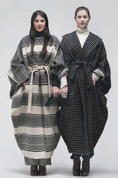 These gowns should protect these norwegians from the cold. #bohemianfashion #checksandlines