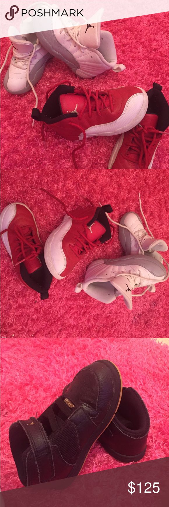 Jordans Toddler Sneakers I have three pair of toddler Jordan Sneakers for sell all in very good condition Wht/ size 10 child or toddler Jordan Shoes Athletic Shoes