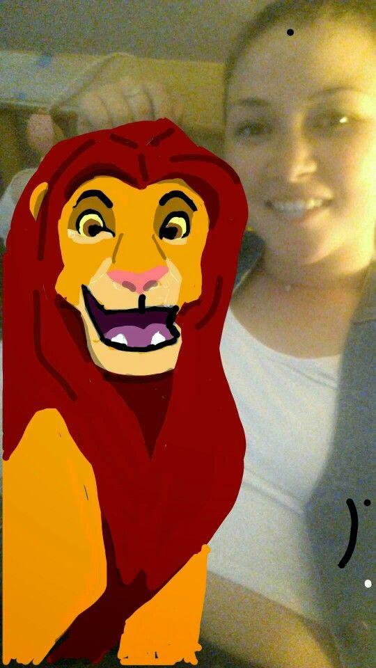 Snapchat art. Lion King