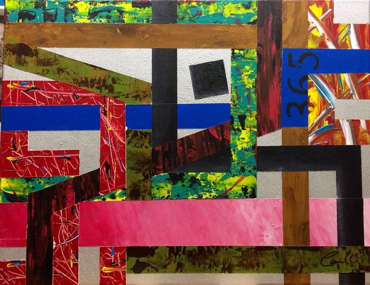 "Artist: Louich! Acrylic on canvas 2015 ""Sainte-Marguerite"" • 18"" x 14"" louichart@gmail.com #abstract #louichart"