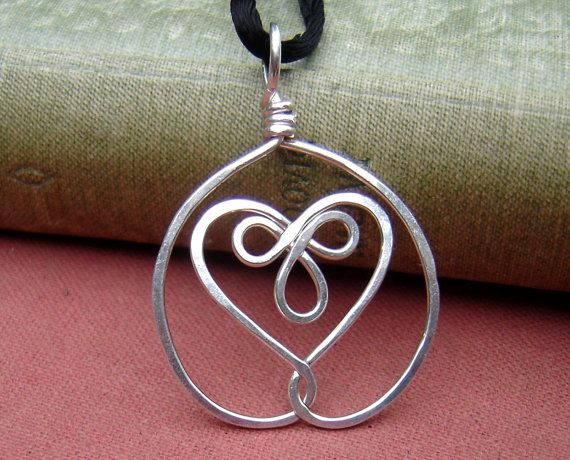 Celtic Embraced Heart Sterling Silver Pendant by nicholasandfelice, $18.00
