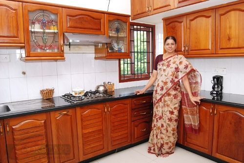 Small indian kitchen design interiors indian home for Kitchen interior design india