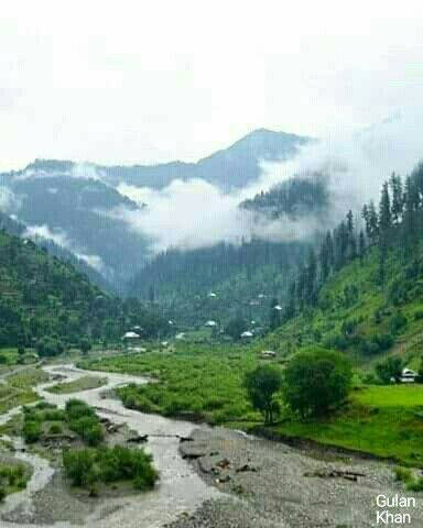 Awesome view of beautiful Neelum valley Azad Kashmir Pakistan