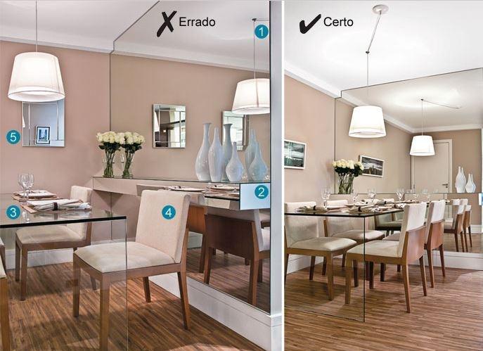 Espelhos Para Sala De Jantar Etna ~ mesa de vidro e o espelho deram amplitude ao ambiente pequeno