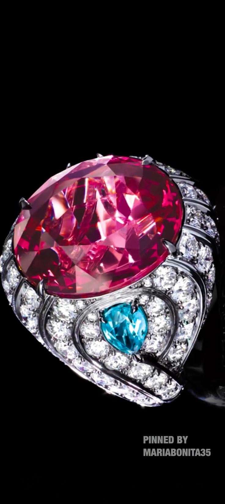 Tiffany & Co Pink Spinel Wave Ring