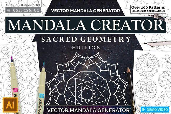 Sacred Geometry Mandala Creator by everdrifter on @creativemarket