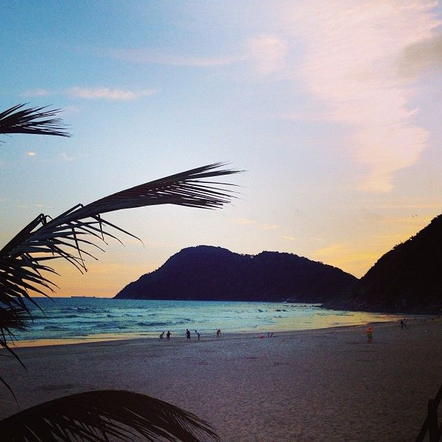 Sunset at Tombo beach -Guaruja _ Sao Paulo - Brazil ! IDV photo Birthday wish