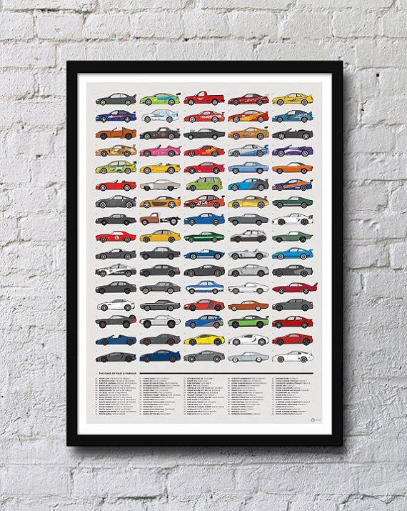 Hey, j'ai trouvé ce super article sur Etsy, chez https://www.etsy.com/fr/listing/247381185/voitures-de-fast-and-furious-affiche
