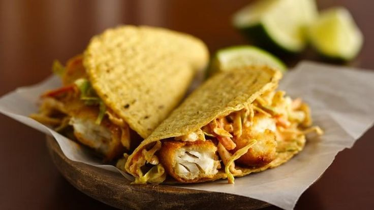 Fish fillets make quick work out of Mexican fare. I used soft flour tacos instead - delish!