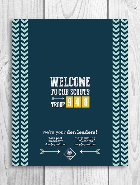 Welcome to Cub Scouts printable candy bar wrapper