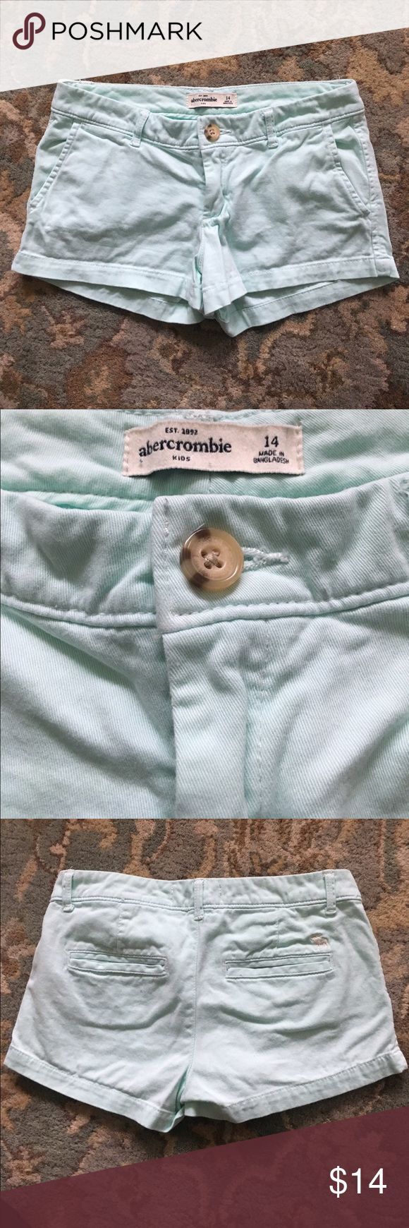 Girls Abercrombie Kids Mint Green Shorts Adorable Abercrombie Kids Girls size 14 shorts in mint green. These shorts are in great shape with no stains. abercrombie kids Bottoms Skorts