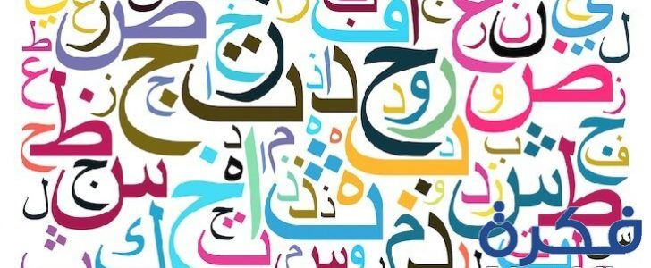 تفسير رؤية الحروف الابجدية في المنام موقع فكرة Arabic Alphabet Text Cloud Learn Arabic Language