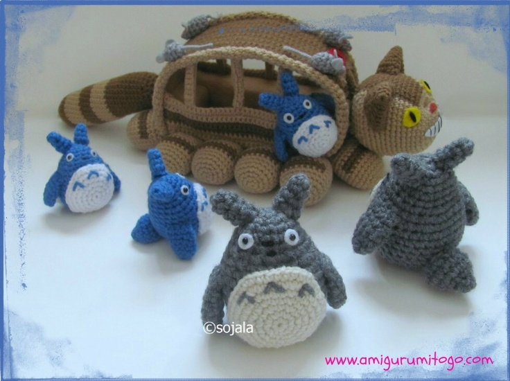 Grey Totoro Revised Crochet Pattern For The Cat Bus (free patterns)