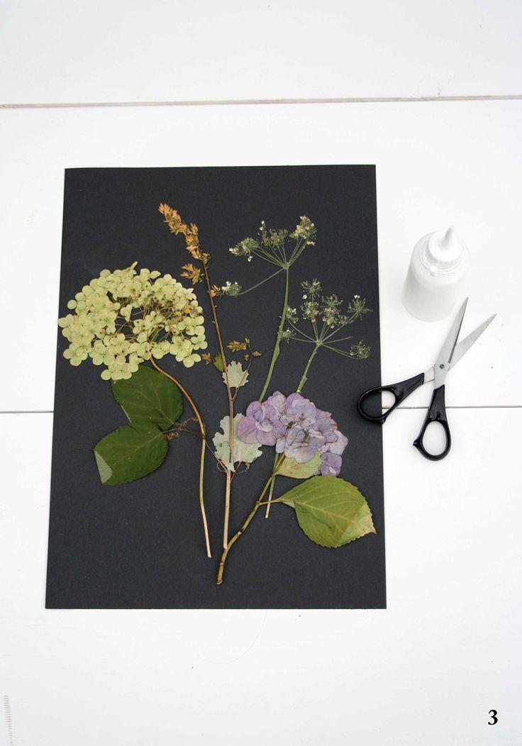 DIY: bloemenschilderij maken