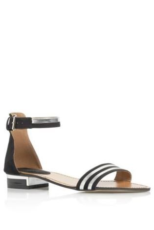 Buy Black And Metallic Two Part Sandals from the Next UK online shop