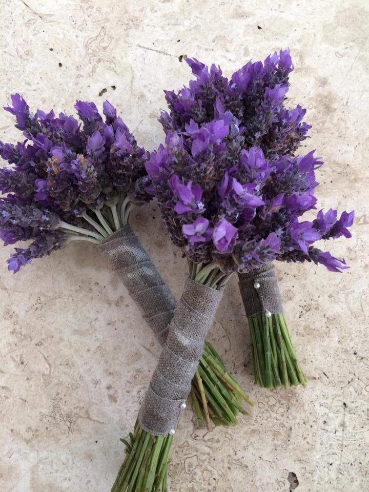Bridesmaids bouquets  Lavender
