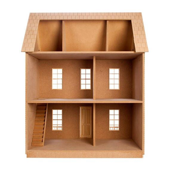 NEW for fall 2016, Real Good Toys introduces the QuickBuild™ Imagination House unfinished dollhouse kit. The assembly of this 1 inch scale dollhouse couldnt be any easier, SIMPLE AS 1) Paint the parts, 2) Doweled n Ready™ connections make assembly a snap and 3) Glue, tape and 9 screws!