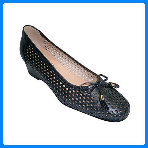 Schuh Frau manoletinas puff Typ Wedge Ornament Schleife Roldán marineblau größe 39 - Damen pumps (*Partner-Link)