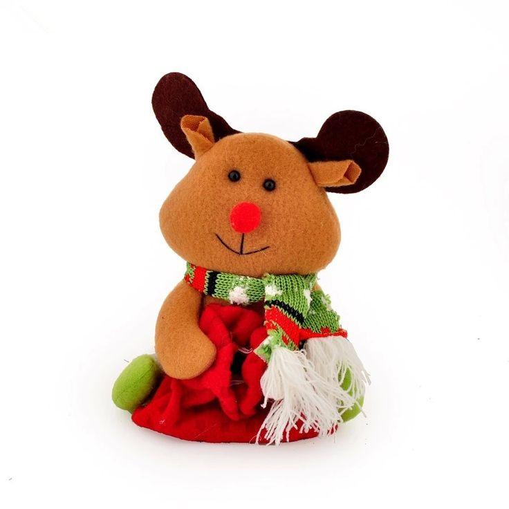 Aliexpress.com: Comprar Tamaño: 17*13 cm Alce muñeca de tela de felpa de Navidad Para Colgar Del Árbol de Navidad de Interior o Al Aire Libre 130 g/pcs de doll for fiable proveedores en Ugift Beauty Home Decorations :):):)