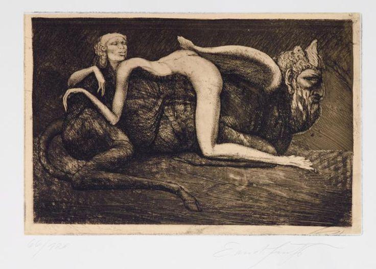 Fuchs, Ernst - (Wien 1930-2015 ebda.), Weiblicher Akt auf