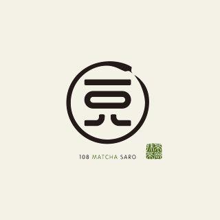 一〇八抹茶茶廊のロゴマーク。 旭川を発祥とするお茶屋さんがつくった、抹茶スイーツ専門店です。