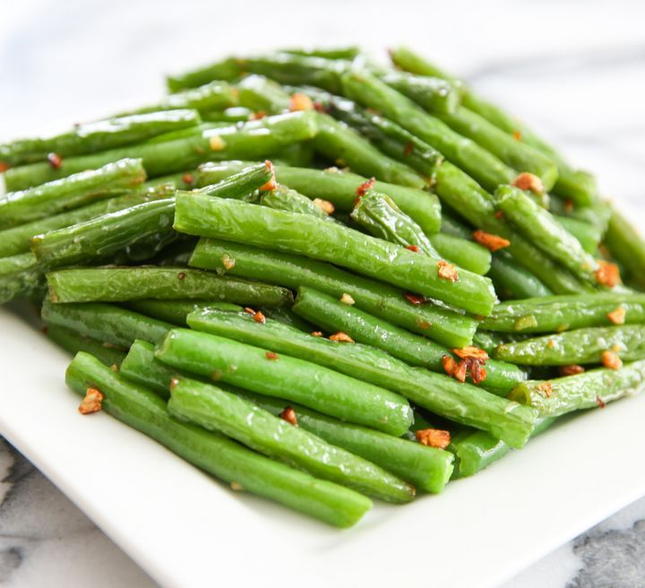 Chinese Style Garlic Green Beans | Kirbie's Cravings | A San Diego food & travel blog