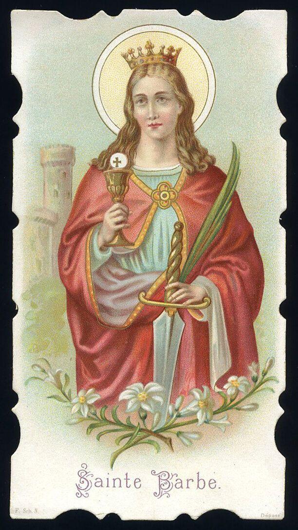 Antico Santino Cromo Holy Card S Barbara V M Santos Da Igreja Catolica Imagens Religiosas Católico
