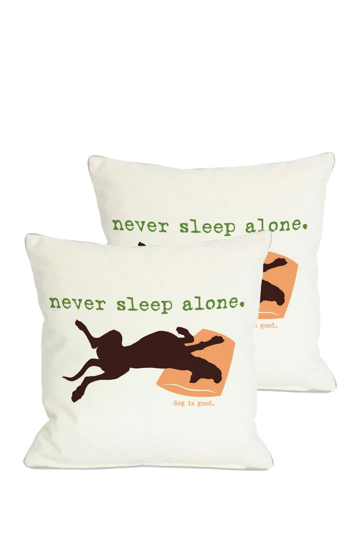 Never Sleep Alone Throw Pillow -