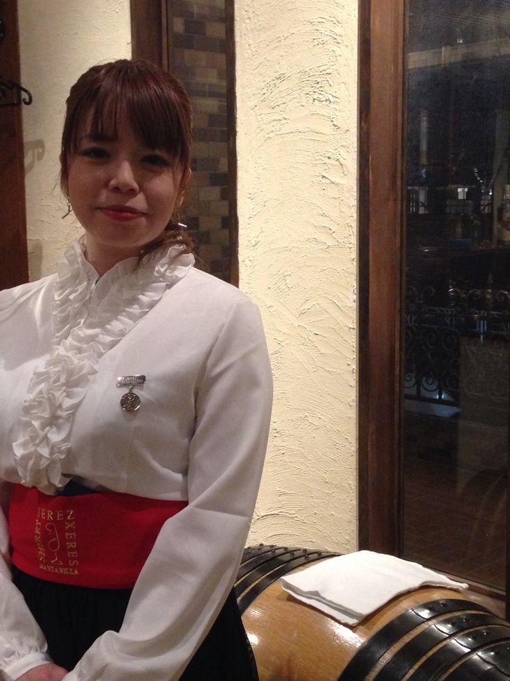Venenciadora Ms. Tomomi Watanabe - Fiesta de la Manzanilla on 16 December 2014