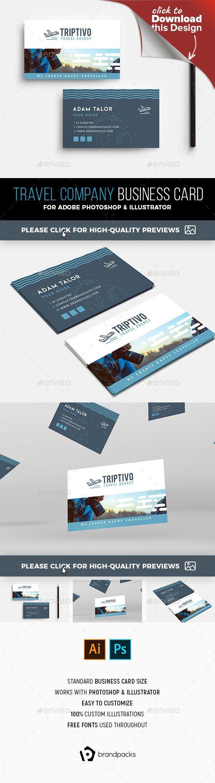 Travel Company Business Card Template Company Business Cards Travel Companies Business Card Template Photoshop