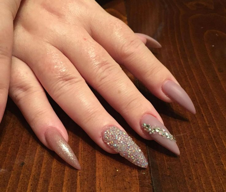 best 25 natural stiletto nails ideas on pinterest