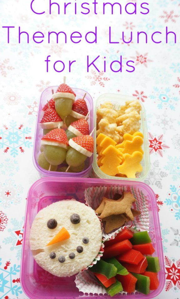 Christmas Themed Lunch For Kids In 2020 Kids Lunch For School Holiday Lunch Christmas Food