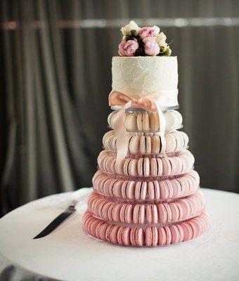 Hochzeitstorte Cupcakes Pastell