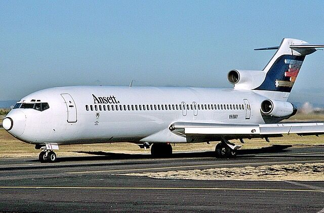 An Ansett Australia Boeing 727-277/Adv (registered VH-RMY)