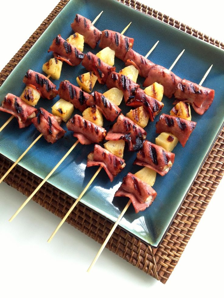 Bacon Wrapped Hawaiian Chicken Skewers - The Cooking Jar