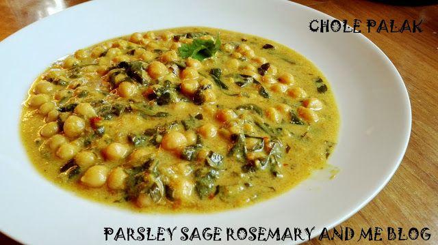 Parsley, Sage, Rosemary and Me: Chole Palak - gotowe w 15 minut!!!