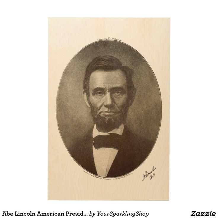 Abe #Lincoln American President #Vintage Portrait  #giftideas #woodwallart
