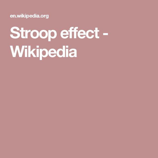 Stroop effect - Wikipedia