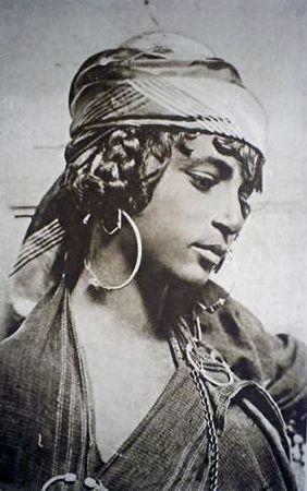 "Africa | ""A Moorish Beauty"".  Algeria | Scanned old postcard."