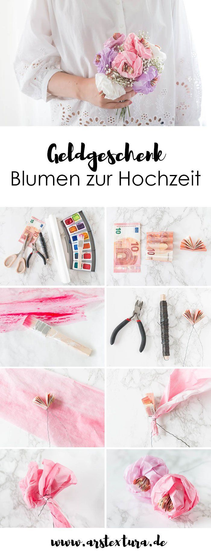 Money present for the wedding – making flowers out of paper