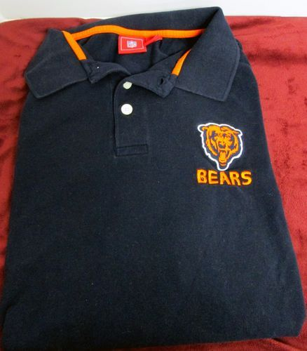 NFL Chicago Bears Football Team Button Navy Polo Men's Size 2X Tall Used | eBay