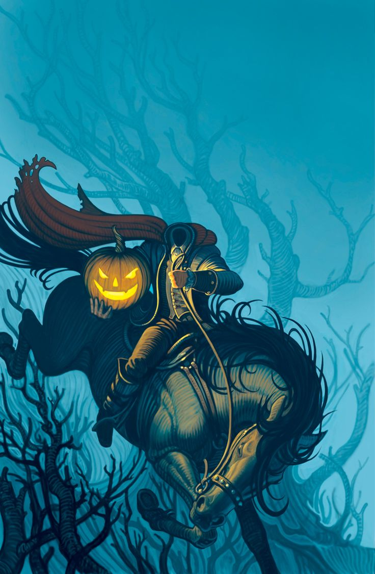 The Headless Horseman; my favorite horror icon. Yep, even first before Jason.