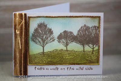 StampingMathilda: Darkroom Door Tree Line Photo Stamp.