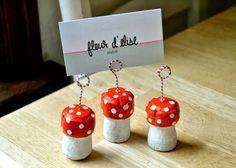 Pilze aus Korken Photohalter