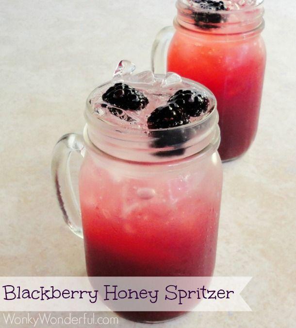 Blackberry Honey Spritzer ::: wonkywonderful.com ::: #blackberry #drink #honey