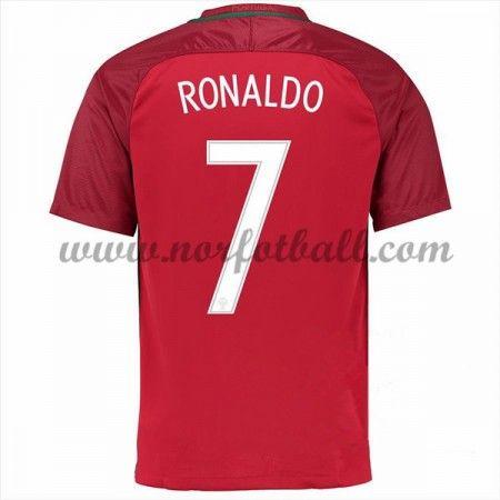 Portugal 2016 Landslagsdrakt Cristiano Ronaldo 7 Kortermet Hjemme Fotballdrakter