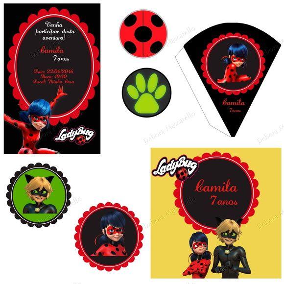 Kit Festa Digital Miraculous Ladybug