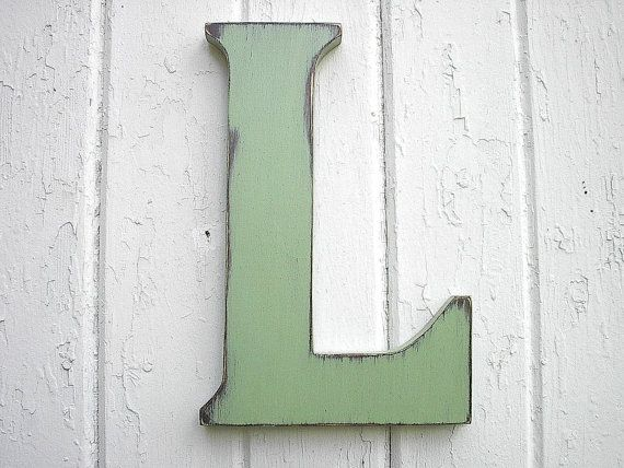 Wooden Wall Hanging Letter L Big Dorm Letter 12 by LettersofWood, $25.00