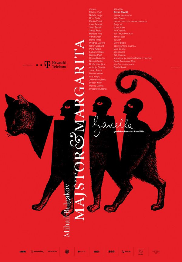 Theatre Posters by Studio Cuculić - The Master and Margarita , via Behance